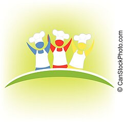 Teamwork chef logo