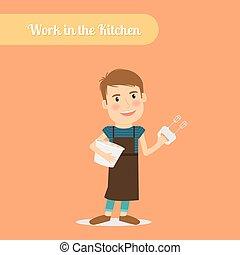 Man work in the kitchen