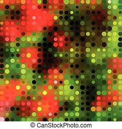 Background with colorful hex grid and blurred picture