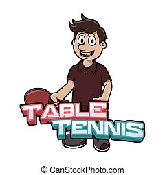 table tennis logo illustration design