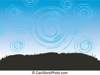 Grass and sky, abstract background