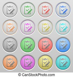 Fill out checklist plastic sunk buttons - Set of fill out...