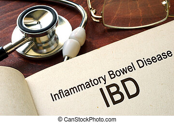 inflammatory bowel disease - Book with words inflammatory...