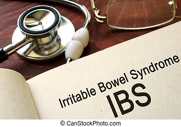 Irritable bowel syndrome - Paper with words Irritable bowel...