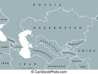 Caucasus and Central Asia map - Caucasus and Central Asia...