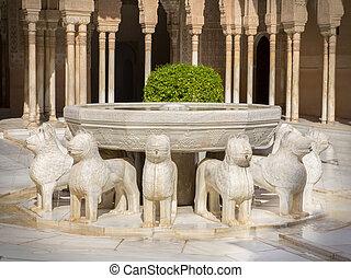 lion fountain alhambra