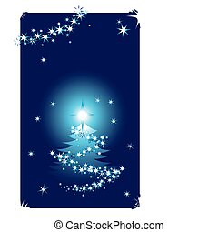 Abstract winter background with christmas tree