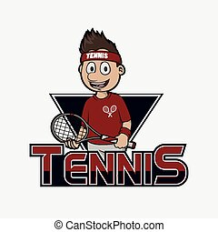 tennis logo illustration design