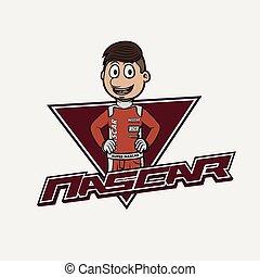 nascar logo illustration design