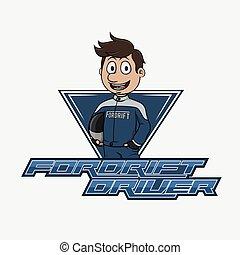 fordrift driver logo illustration design