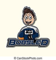 bobsled logo illustration design