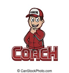 coach logo illustration design