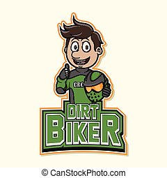 dirt biker logo illustration design