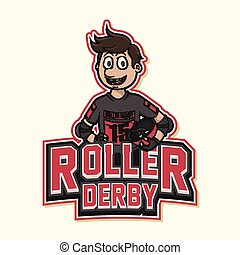 roller derby logo illustration