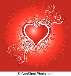 Heart, valentine grunge background