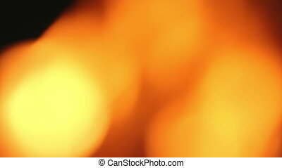 bright flame fire. blurred background
