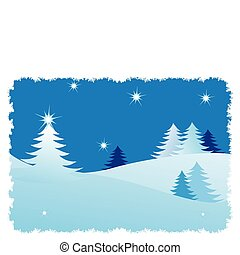 Winter trees abstract background