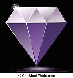 Purple diamond as jewelry - Illustration purple diamond as a...