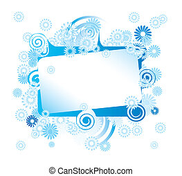 Abstract flower frame with place for your text
