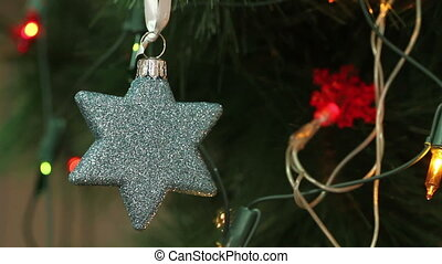 Christmas decorations in the shape of a star Decorated...