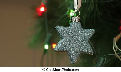Christmas decorations in the shape of a star.