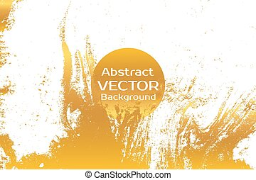 Gold abstract painted marble illustration - Golden abstract...