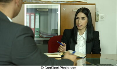 Business meeting, interview for job