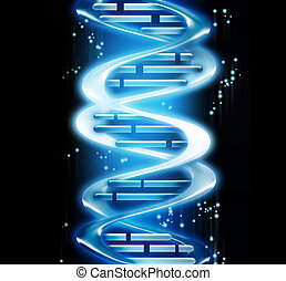 DNA - render of DNA - computer generated  for your projects