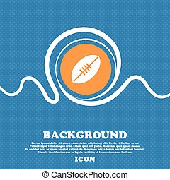 American Football icon sign. Blue and white abstract background flecked with space for text and your design. Vector