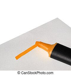 Highlighter marker - Highlighter or marker to highlight text...