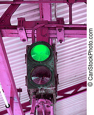Green Light - Green light on a traffic light or semaphore