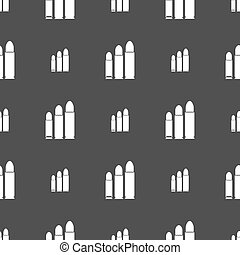 bullet Icon sign. Seamless pattern on a gray background....