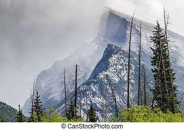 Mount Rundle - Banff National Park, Alberta, Canada - Mount...