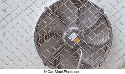 Air conditioning fan grid for slow motion video - Air...