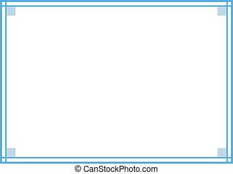 blue elegant frame - Creative design of blue elegant frame