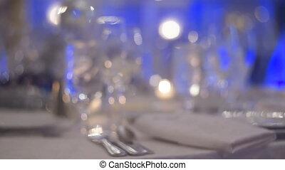 restaurant table celebration