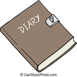 diary illustration - Creative design of diary illustration