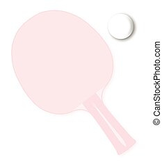 Ping Pong Background - A faded table tennis bat or racket...
