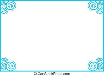 imaginative blue frame - Creative design of imaginative blue...