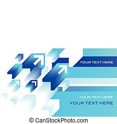 Abstract blue  arrow background