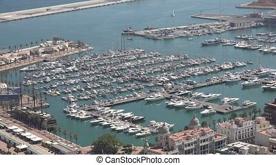 Marina With Boats And Yachts