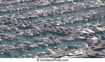 Harbor Or Marina With Boats And Yachts