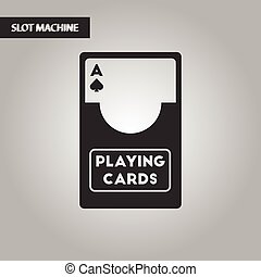 black and white style playing cards - black and white style...
