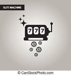 black and white style slot machine