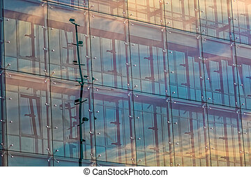 Glass windows of the building - Glass windows of the modern...