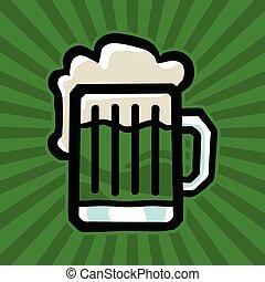 Green Irish Beer Mug vector