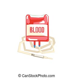 Bag And Iv For Blood Transfusion Hospital And Healthcare...