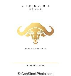 Buffalo elegant emblem for design vector illustration
