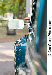 rear mirror of an old car