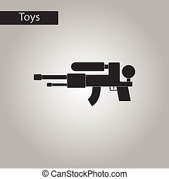 black and white style toy water gun - black and white style...